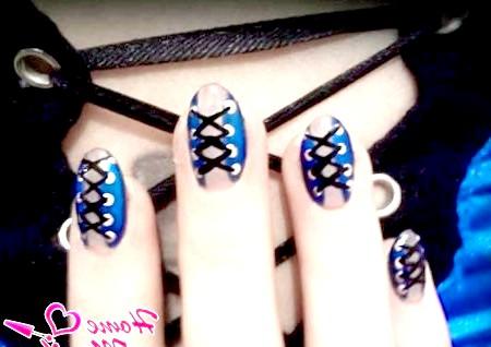 Фото - елегантний корсет на овальних нігтях