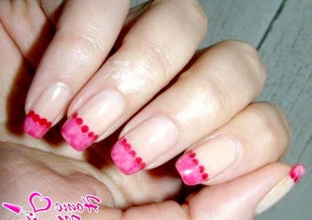 Фото - стильний рожевий французький манікюр
