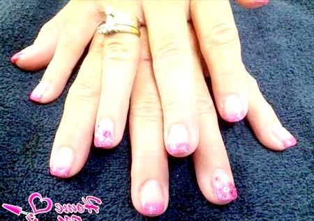 Фото - рожевий френч з глітером