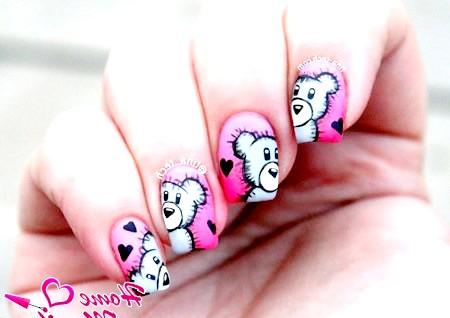 Фото - класні малюнки ведмедиків на нігтях