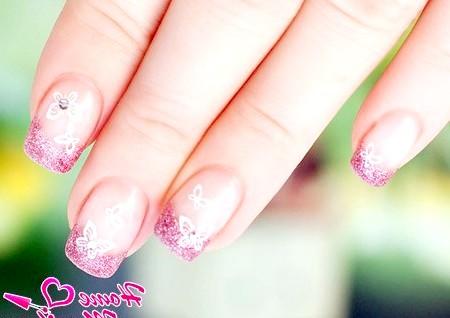 Фото - метелики на нігтях стемпинг konad