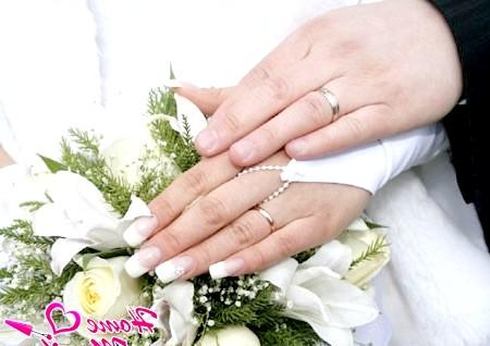 Фото - весільний манікюр