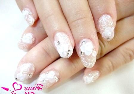 Фото - гарний дизайн нігтів на весілля