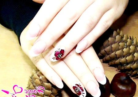 Фото - класичні овальні нігті френч