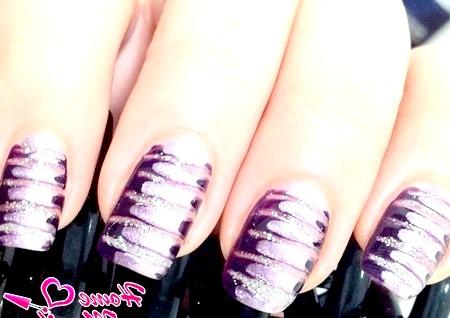 Фото - дизайн нігтів голкою з глітером