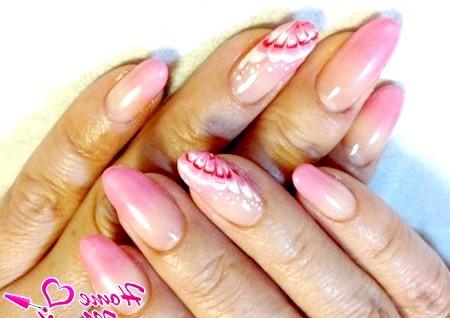 Фото - красиві малюнки на нігтях голкою