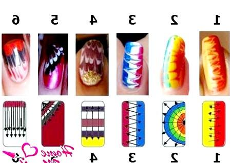 Фото - схеми малюнків на нігтях голкою