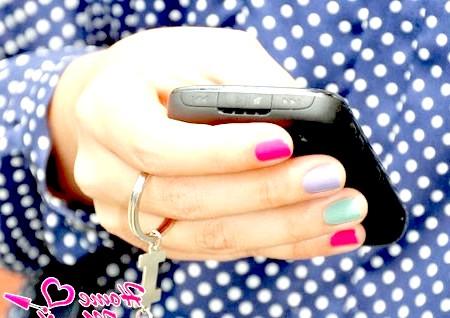 Фото - акуратний різнокольоровий дизайн нігтів