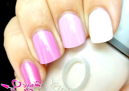Фото - різнокольоровий нейл-арт в пастельних рожевих тонах