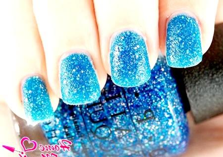 Фото - пісочний дизайн нігтів за допомогою лаку OPI