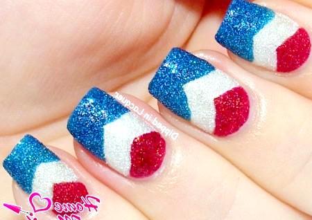 Фото - прапор на нігтях за допомогою пісочного лаку