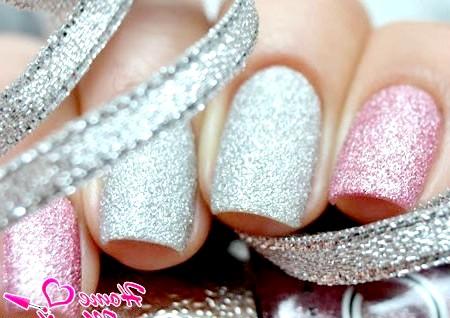 Фото - цукровий лак на нігтях різних кольорів