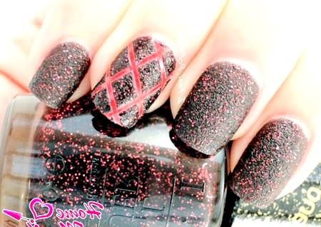Фото - вулканічний дизайн нігтів лаком OPI