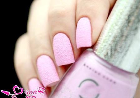 Фото - ніжно-рожевий варіант пісочного покриття