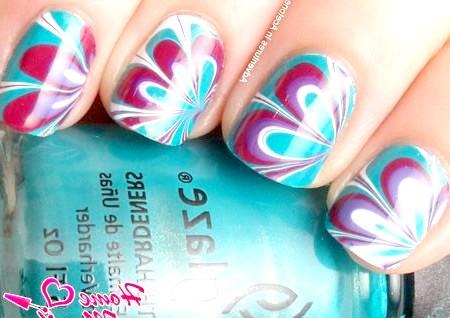 Фото - водний дизайн нігтів в єдиному стилі