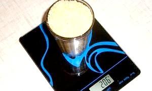 Скільки грам важать продукти в склянці?