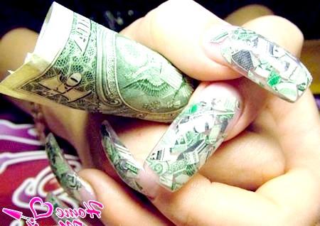 Фото - доларовий дизайн нігтів