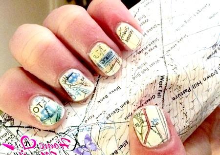 Фото - карта міста на нігтях