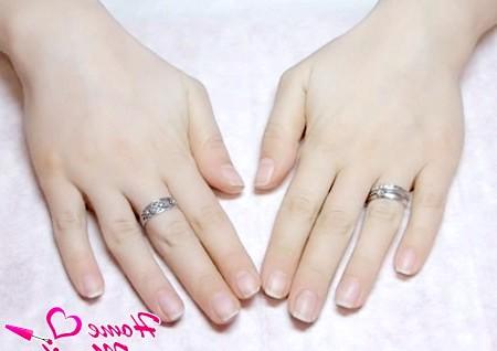 Фото - очищені від покриття shellac нігті