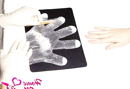Фото - попередня підготовка рукавичок