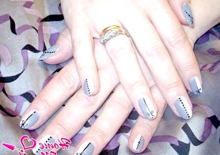 Фото - стильний манікюр на основі біогелю для нігтів