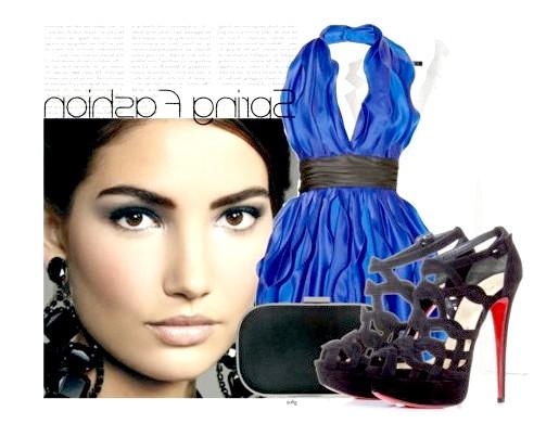 Фото - Які туфлі підійдуть до синього сукні