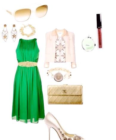 Фото - Які туфлі підійдуть до зеленого плаття
