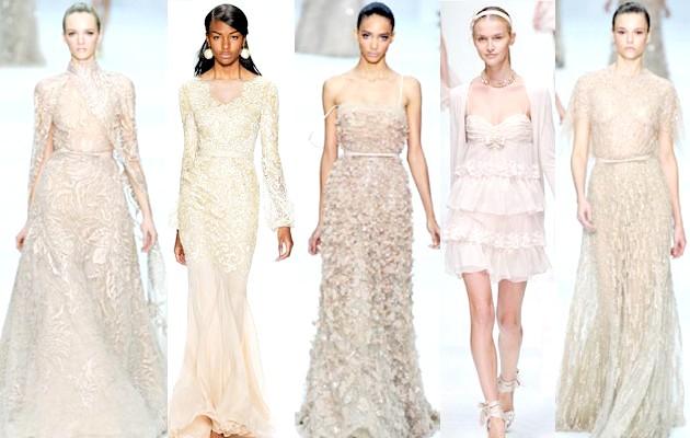 Фото - Бежеві та кремові сукні на Новий рік 2015