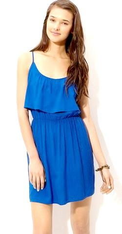 Фото - Синє коктейльне плаття на Новий Рік 2015