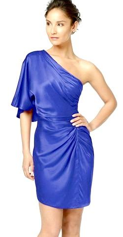 Фото - Синє асиметричне плаття для Нового року