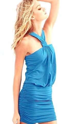 Фото - Синє плаття для Нового Року