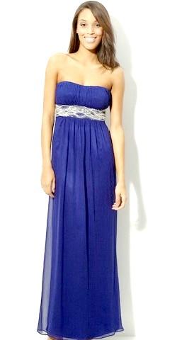 Фото - Синє вечірнє плаття в грецькому стилі