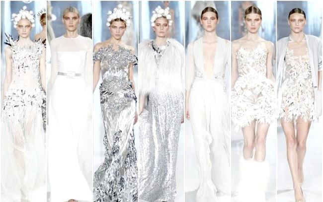 Фото - Білі та сірі сукні на Новий рік 2015