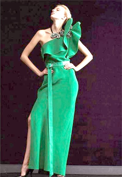Фото - Вечірня сукня зеленого кольору, Lanvin