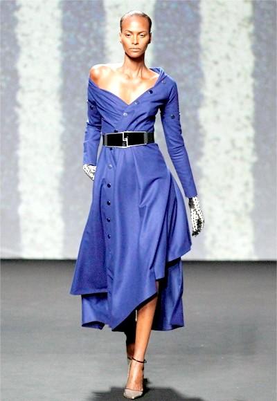 Фото - Синє ошатне плаття