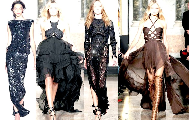 Фото - Чорні сукні на Новий рік 2015