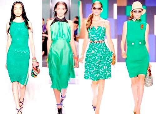 Фото - Зелені коктейльні вбрання