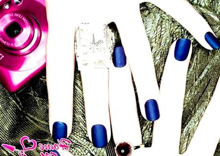 Фото - модне темно-синє матове покриття