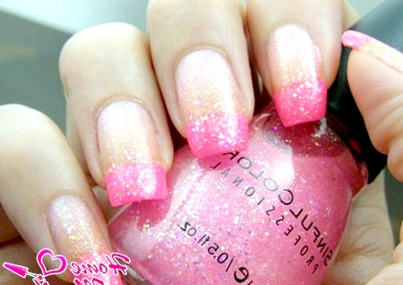 Фото - класний рожевий френч з блискітками