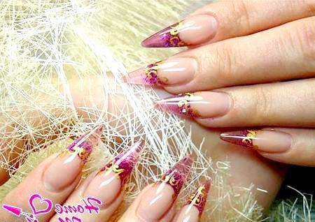 Фото - чудові вітражні нарощені нігті