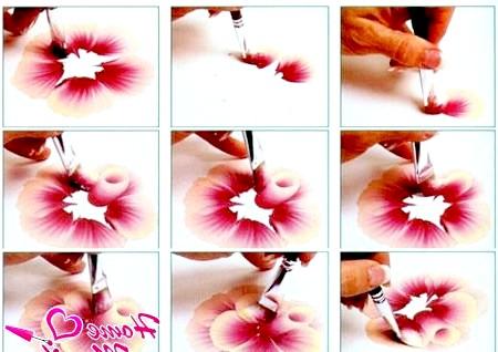Фото - покрокове малювання квітки в китайській техніці