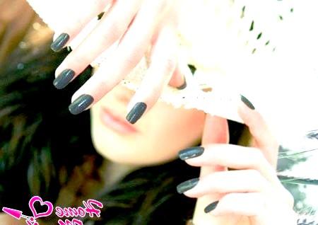 Фото - однотонні нарощені биогелем нігті