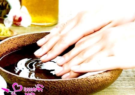 Фото - зміцнення нігтів за допомогою ванночок