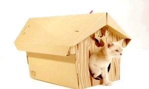 Дбаємо про вихованців: як зробити будиночок для кішки своїми руками