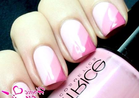 Фото - ніжний і романтичний рожевий манікюр