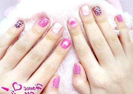 Фото - стильний дизайн коротких нігтів в рожевих тонах