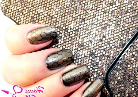 Фото - дизайн нігтів зі зміїним принтом