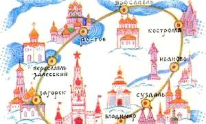 Золоте кільце россии: карта подорожей