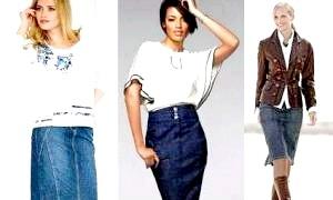 Що носити з джинсовими спідницями різної довжини