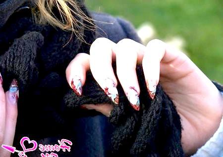 Фото - квіти на нігтях